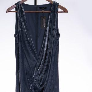 Kenneth Cole Twist Wrap Velvet Dress